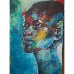 Blauer Frauenkopf
